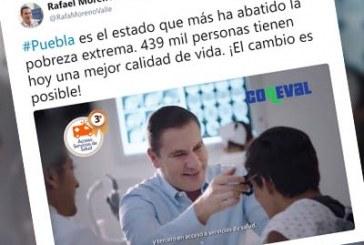 Moreno Valle se promociona en redes con acciones de su sexenio