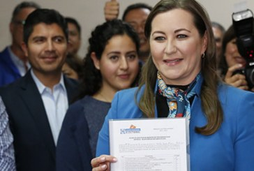 Martha Erika Alonso se registra como precandidata del PAN