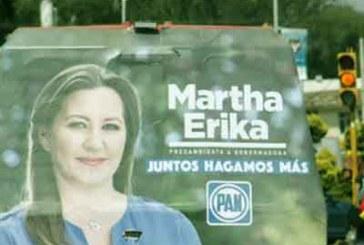 Presentan queja por publicidad de Martha Erika