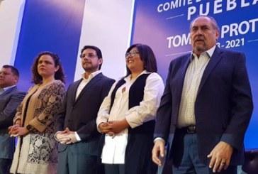 Rinde protesta Genoveva Huerta como dirigente del PAN en Puebla
